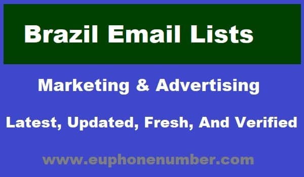 Brazil Email Lists