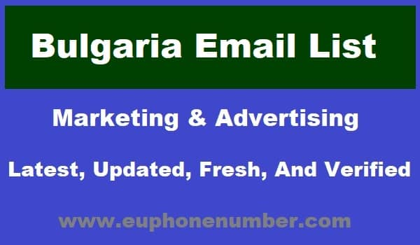 Bulgaria Email Lists