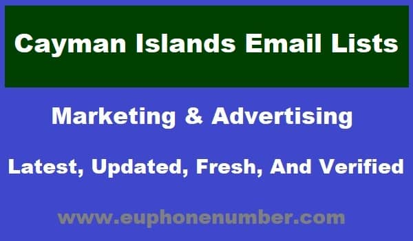 Cayman Islands Email Lists