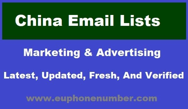 China Email Lists
