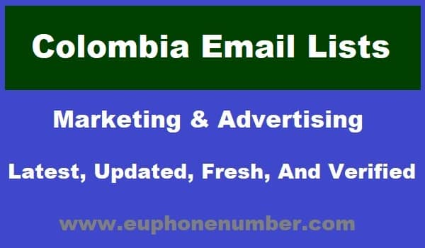 Colombia Email Lists