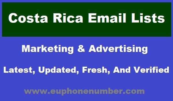 Costa Rica Email Lists