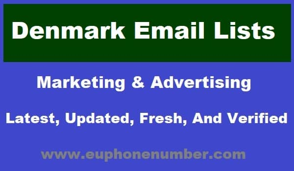 Denmark Email Lists