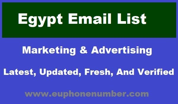 Egypt Email Lists