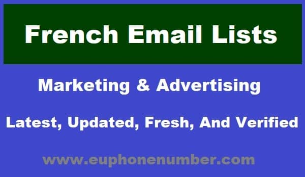 French Email Lists