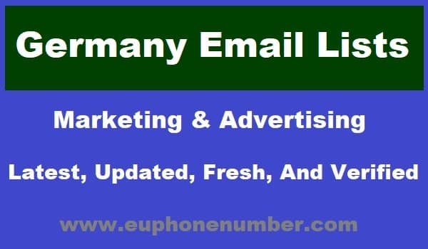 Germany Email Lists