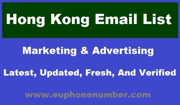 Hong Kong Email Lists