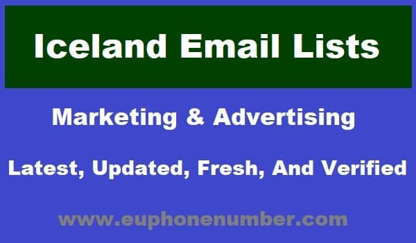 Iceland Email Lists