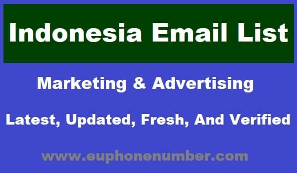 Indonesia Email Lists