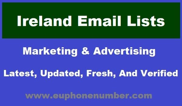 Ireland Email Lists