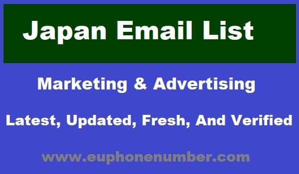 Japan Email Lists