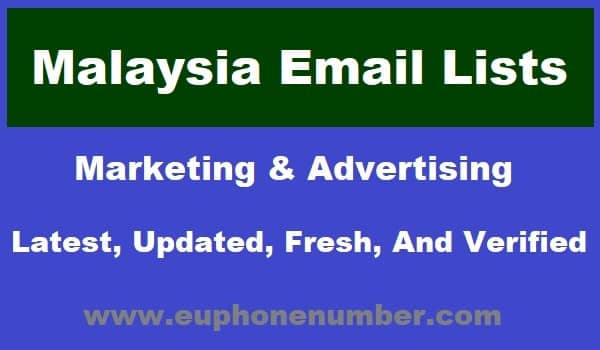 Malaysia Email Lists
