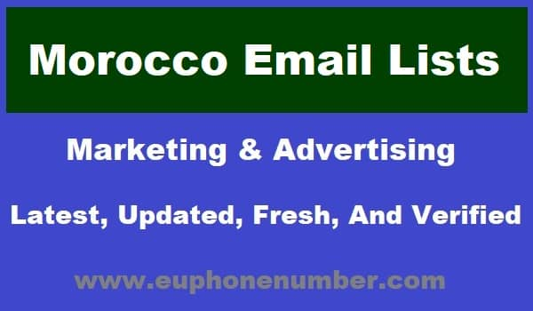 Morocco Email Lists