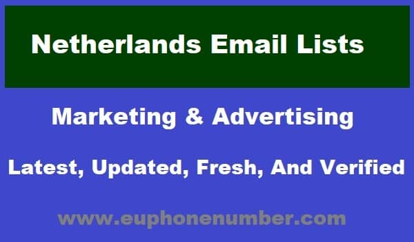 Netherlands Email Lists