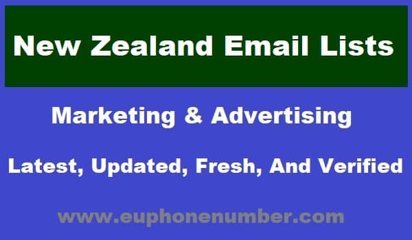 New Zealand Email Lists