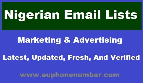 Nigerian Email Lists