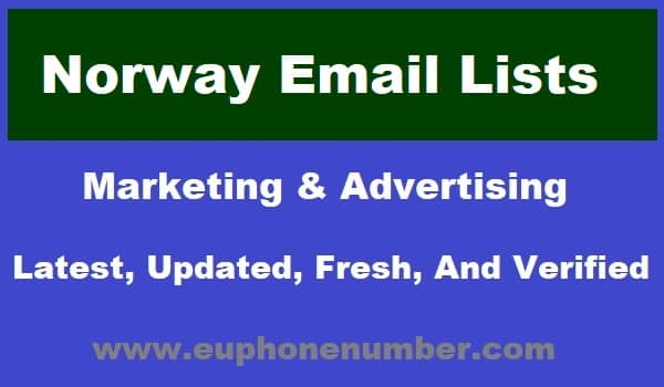 Norway Email Lists