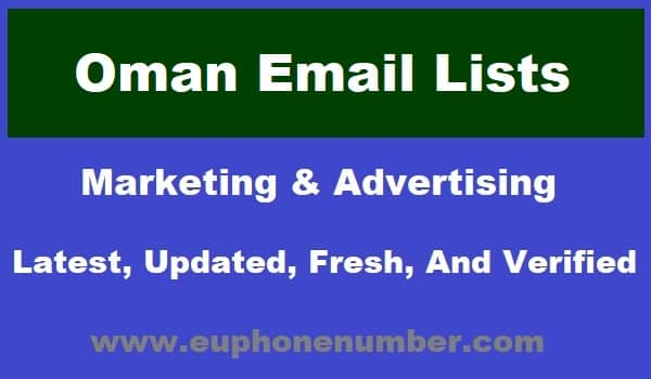 Oman Email Lists