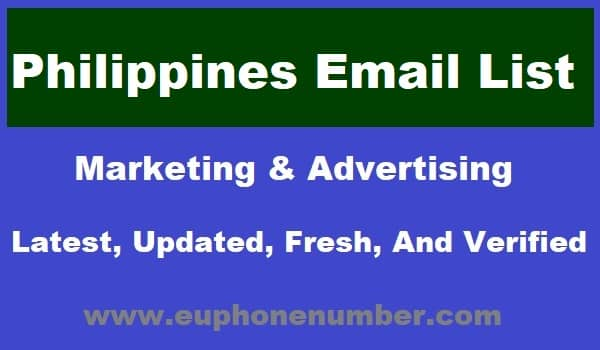 Philippines Email Lists