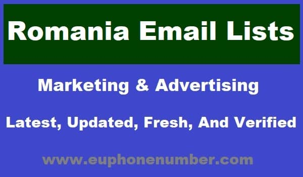 Romania Email Lists