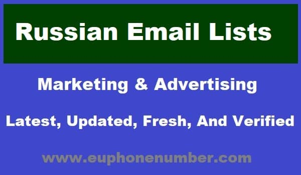 Russian Email Lists