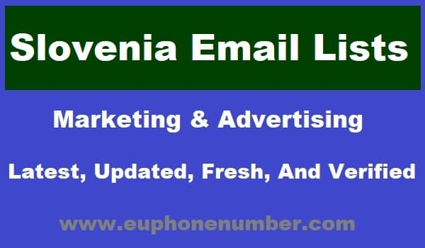 Slovenia Email Lists