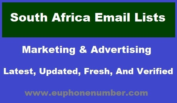 South Africa Email Lists