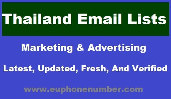 Thailand Email Lists